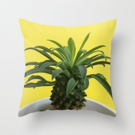 Euphorbia hypogaea(yellow) Throw Pillow
