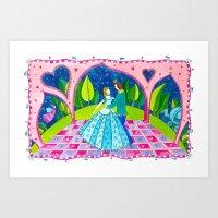 cinderella Art Prints featuring Cinderella by Sandra Nascimento
