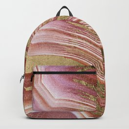 Abstract painting pink modern Backpack