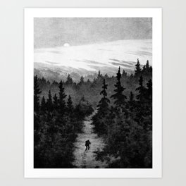 Into the Woods Theodor Kittelsen Art Print