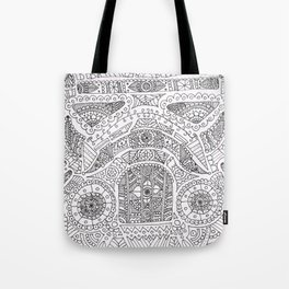 Day of the dead trooper doodle Tote Bag
