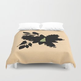 New Hampshire - State Papercut Print Duvet Cover
