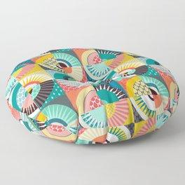 llama geo squares Floor Pillow