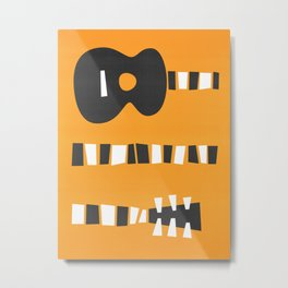 Retro Guitar Metal Print