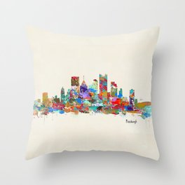 Pittsburgh Pennsylvania skyline Throw Pillow