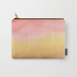 Boho pink brown ombre watercolor desert abstract paint Carry-All Pouch