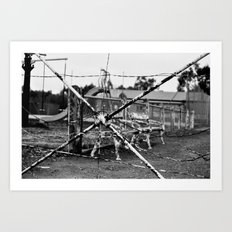 Spider Fence Art Print