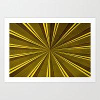 Yellow Roller Shutter 3 Art Print