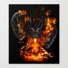 Dragon Negro DNIII Canvas Print