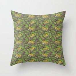 Ekpen n' Oha (Leopard of the forest) Throw Pillow