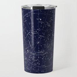 Constellation Map Indigo Travel Mug