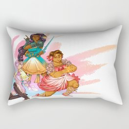 Magical Girl Floral Fighter Squad Rectangular Pillow