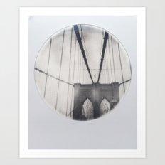 brooklyn bridge polaroid Art Print