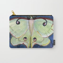 Deco Luna, Art Deco Inspired Luna Moth Carry-All Pouch