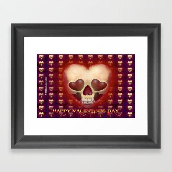 HAPPY VALENTINES DAY Framed Art Print