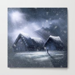 Going Home for Christman Metal Print