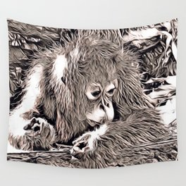 Rustic Style - Orang Baby Wall Tapestry