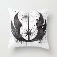jedi Throw Pillows featuring Jedi mark by Ainy A.