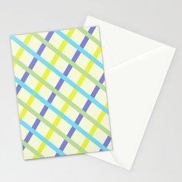Basketweave Sky and Cornflower Blue Stationery Cards