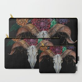 Ram and Dahlias Carry-All Pouch