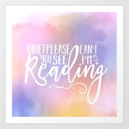 Reading Time Art Print