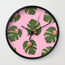 Lady Leaves Wall Clock