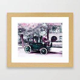 Senator Wetmore & Wife in Horseless Carriage (Krieger Electric Landaulet) 1906 Infrared art by Ahmet Framed Art Print