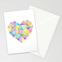 Rainbow Heart Stationery Cards