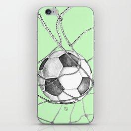 Goal in green iPhone Skin