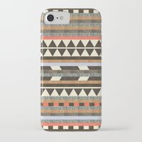 house iPhone & iPod Cases featuring DG Aztec No.1 by Dawn Gardner