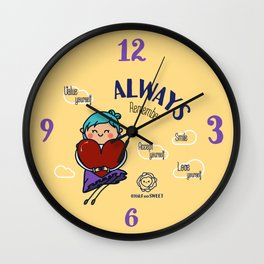 Always remember smile Wall Clock