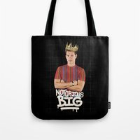 notorious big Tote Bags featuring Notorious BIG by Alpha-Tone