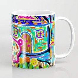 Rabbit and House Coffee Mug