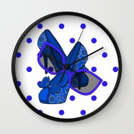 Style In Blue Wall Clock