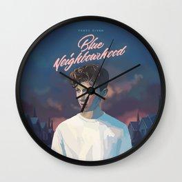 Blue Neighbourhood Wall Clock