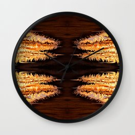 Lava geometry Wall Clock