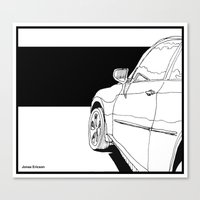 car Canvas Prints featuring Car by Jonas Ericson