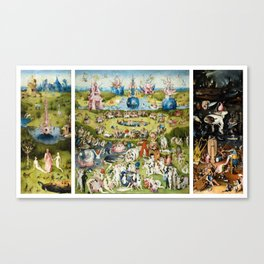 The Garden of Earthly Delights by Hieronymus Bosch Canvas Print