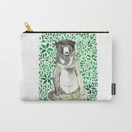 Bear illust : Green inner peace Carry-All Pouch