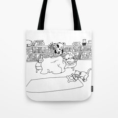 Let Sleeping Boys Lie - Line Art Tote Bag