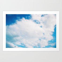 sky blue sky white Art Print