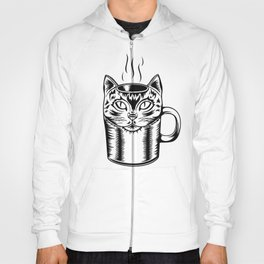 Coffee Cat Hoody