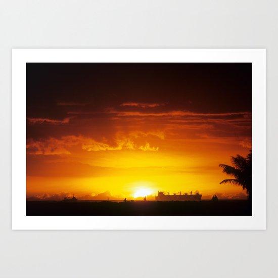 South Shore Sunset Art Print