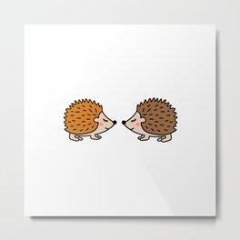 Cute hedgehog Metal Print