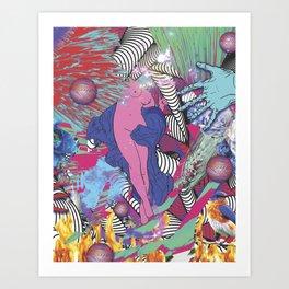 Psycho diva Art Print