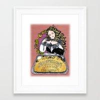 ouija Framed Art Prints featuring Ouija by Daniella Batsheva