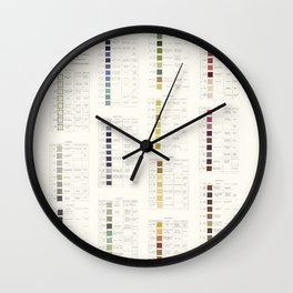Werner's nomenclature of colour Version II Wall Clock
