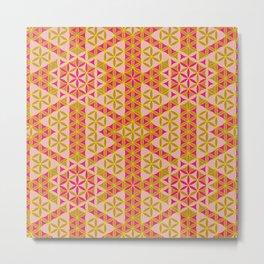 Flower of Life Pattern 45 Metal Print