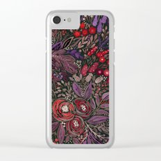 Watercolor floral illustration Clear iPhone Case