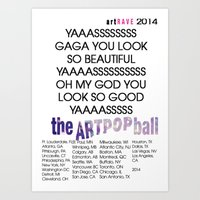artrave Art Prints featuring artRAVE 2014 by RickyRicardo787